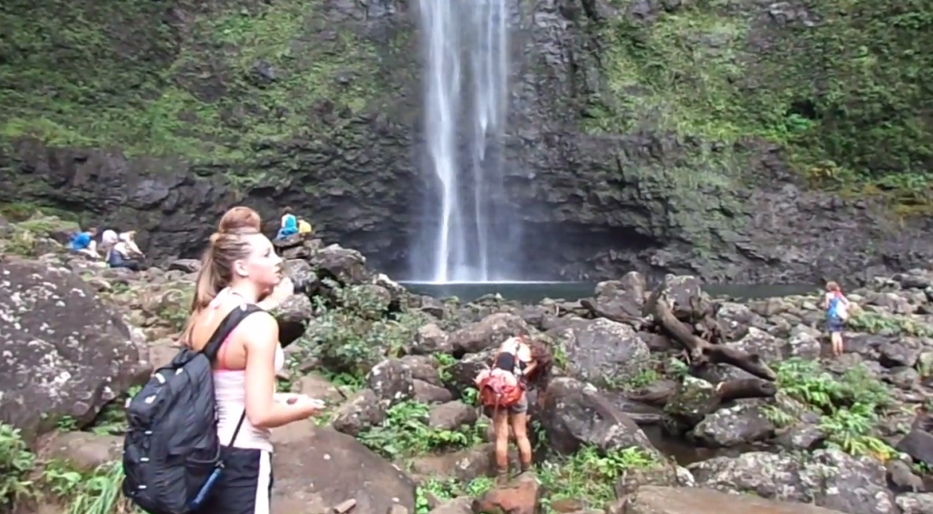 Photo of Hanakapi'ai Falls, Kalalau Trail, Na Pali Coast of Kaua'i