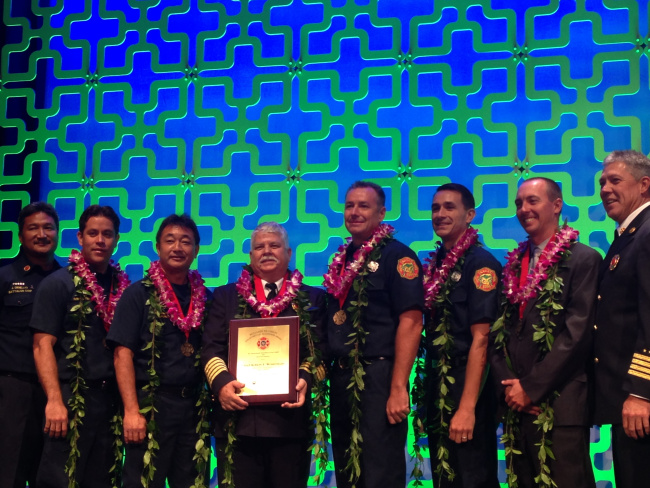 Photo of National Recognition Given to Kauai Firefighters for Kalalau Rescue